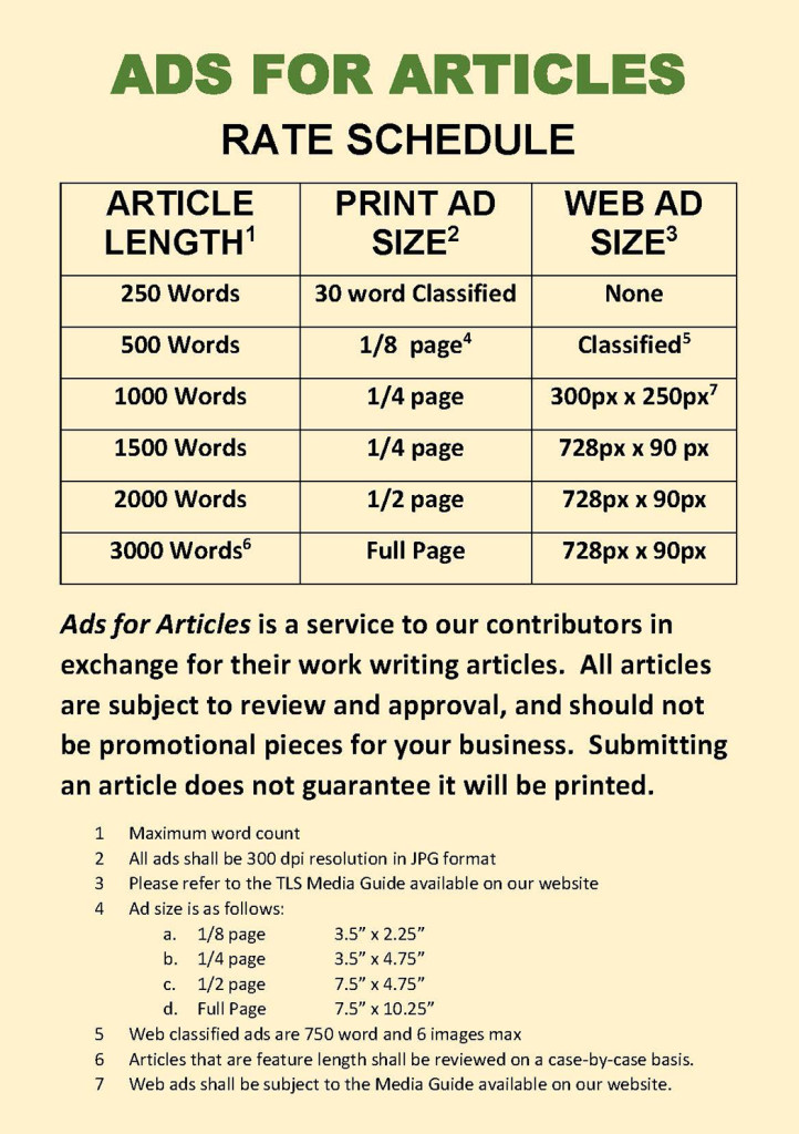 Article writing services rates