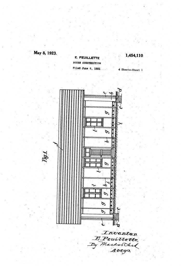 Patent US1454110 Page 1
