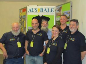 sbale Strawbale Building Conference Organisers.  Gerald Wittmann, Oreste Farrugia, Lance Kairl, Christine Farrugia, Scott Goldie, Bohdan Dorniak.  Courtesy of John Connors