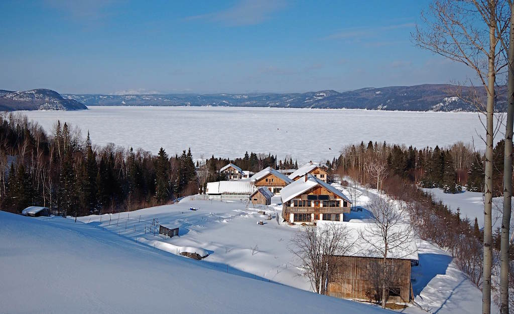 Ecovillage on winter